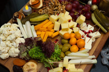 Charcuterie Board Decorated Beautifully for the Holidays