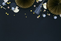 New Years background with champagne flute
