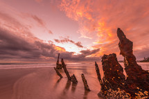 Dickey Beach at sunrise