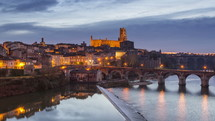 Albi during the Blue Hour France