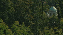 Orthodox White Church in the Woods of Brasov Romania