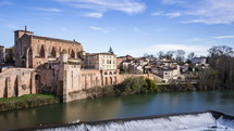 Gaillac, France, daytime in old town