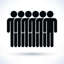 People figures with shadow on white background in flat style. Graphic element for design saved as an vector illustration in file format EPS