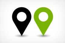 Map pin point sign location icon in flat simple style. Graphic element for design saved as an vector illustration in file format EPS