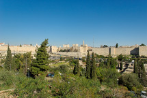 Old City and Jaffa Gate area from the west.