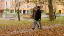 couple walking in a park