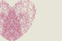 fingerprint heart in pink