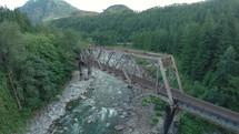 train bridge over water