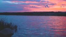River at sunset (full speed, 24fps)