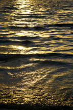 warm sunlight on water surface