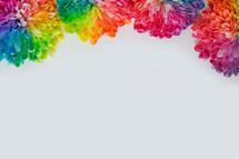 rainbow flowers border