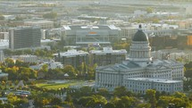 Salt Lake City and capitol buildings