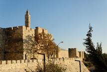 The Citadel of David minaret from the north.