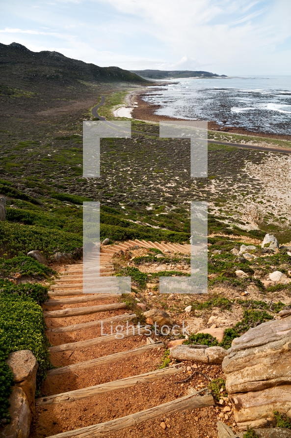 steps leading to a shoreline in South Africa