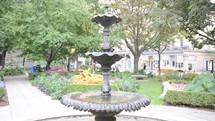 fountain in a Toronto Park