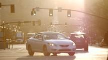 Downtown Salt Lake City morning traffic