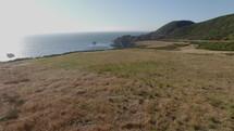 green landscape and shoreline