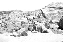 rocks in a desert in Australia
