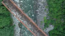 train bridge over a river