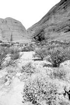 Australian outback canyon