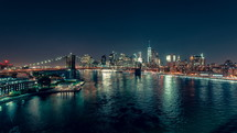 Lower Manhattan at Night,