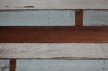 blue and white colored wood boards