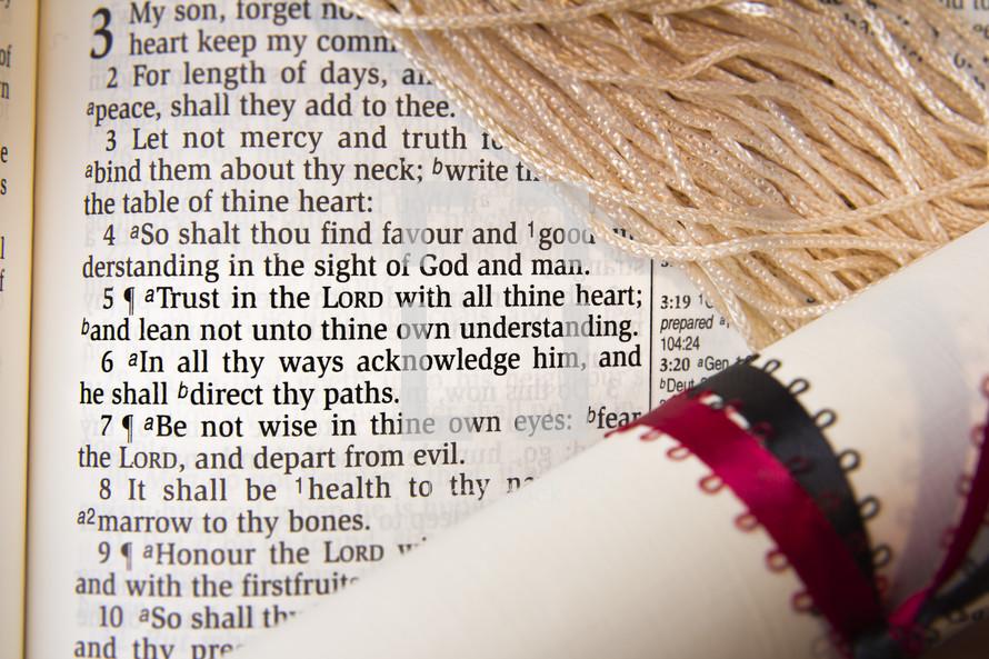 Graduation, Bible, diploma