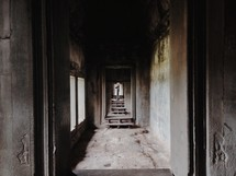 long dark hall