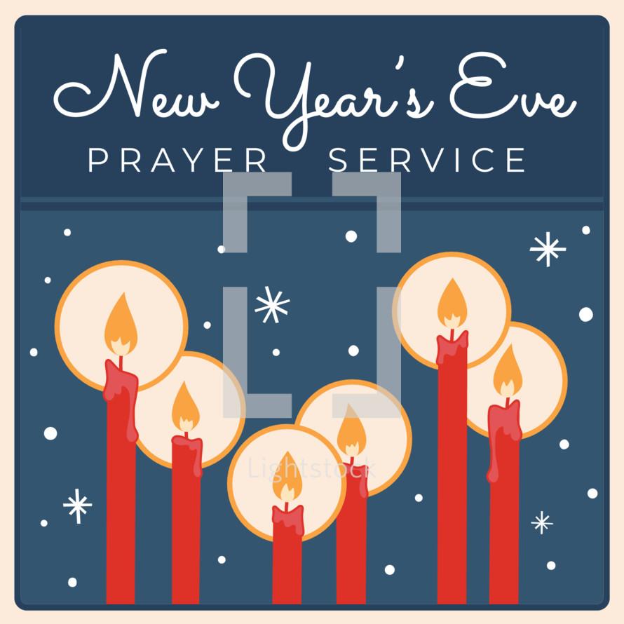 New year\'s eve prayer service retro vintage design — Vector by Sties ...