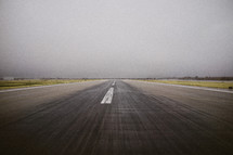 A runway at an airport