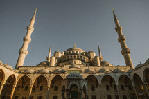 Towers in a mosque in Turkey.