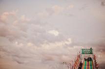giant slide amusement park ride