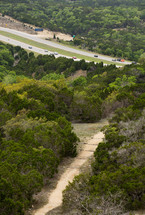 aerial view over rural Texas
