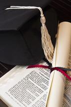Spanish Bible, graduation, diploma