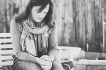 woman in prayer.