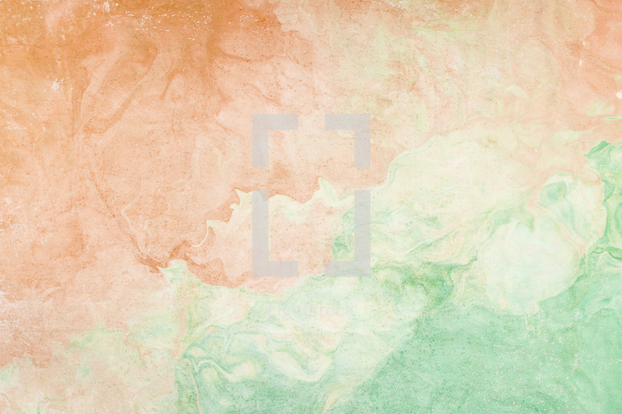 marbleized peach and green background