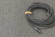 media or tech team setup with audio xlr mic cord