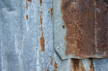 rusty sheet metal background