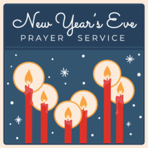 New Year's Eve prayer service retro vintage design