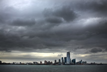 stormy sky over New York City
