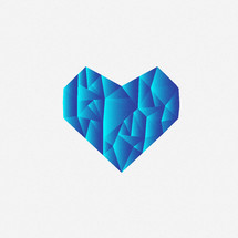 textured blue heart