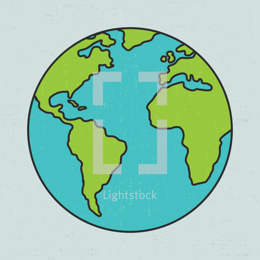 Colourful Globe illustration
