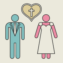 man and woman, love, marriage, wedding, dress, suit, icon, cross, heart