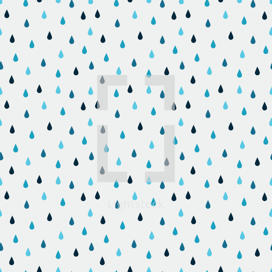 raindrops pattern illustration.