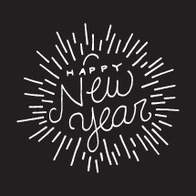 Happy New Year typography.