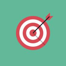 arrow in bullseye illustration.