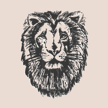 lion head illustration.