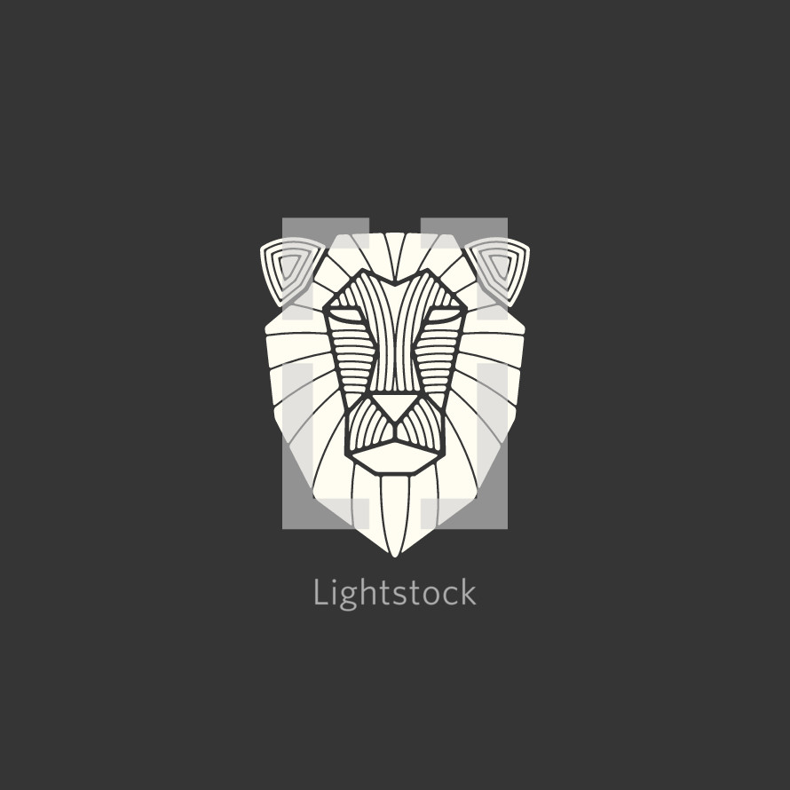 lion head illustration.
