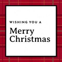 Merry Christmas Card Greeting Social Media Graphic