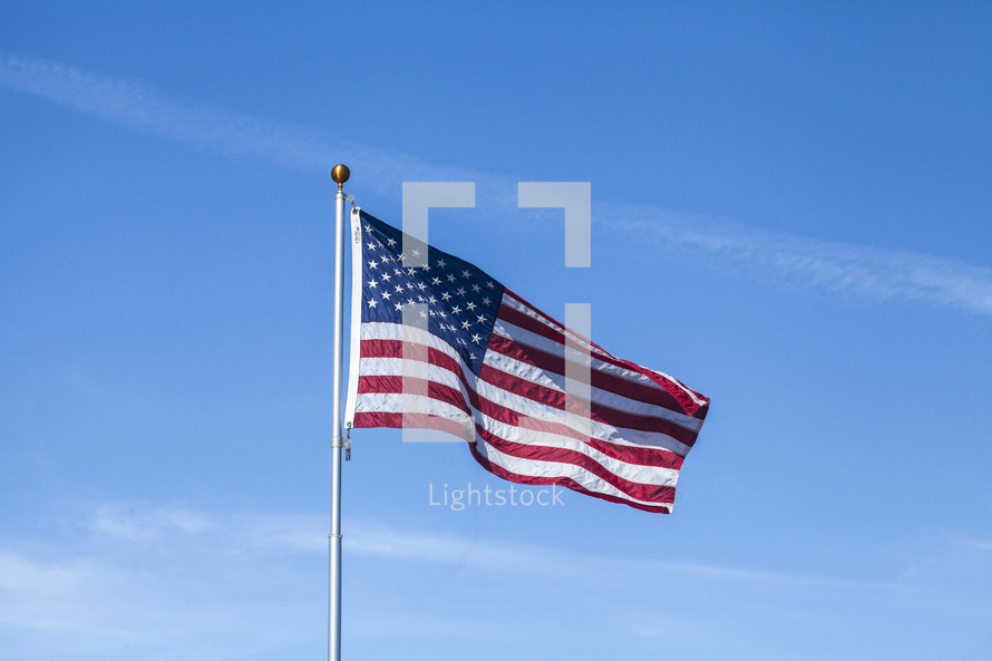 American Flag on a flag pole